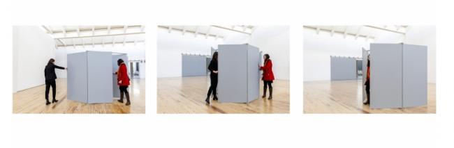 Instalación de Charlotte Posenenske. Cortesía del MACBA   #loquehayquever en España: MACBA, MUSAC, Guggenheim y Museo Reina Sofía