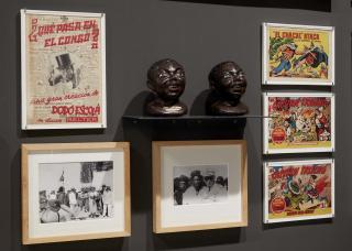 Detalle de de la instalación de Rogelio López Cuenca 'Y coloniales'. Colección Museo Nacional Centro de Arte Reina Sofía. Mayo 2021