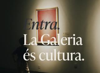 """Pantallazo de la web: """"Entra. La Galeria és cultura"""""""