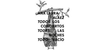 """Cartel de """"Todos los conciertos, todas las noches, todo vacío"""", de Ana Laura Aláez. Cortesía de Azkuna Zentroa - Alhóndiga Bilbao"""