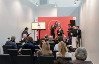Presentación del Premio Artz Pedregal. Cortesía de Zona Maco