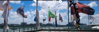 'Banderas del fin del mundo'. Cortesía de BIENALSUR 2019