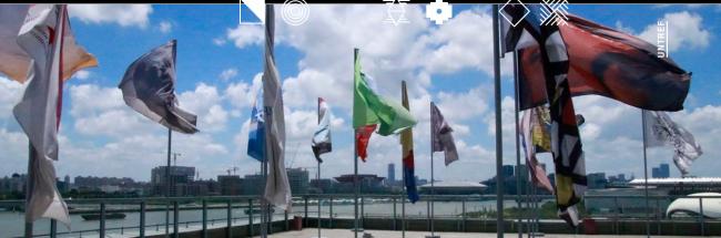 'Banderas del fin del mundo'. Cortesía de BIENALSUR 2019   #loquehayquever en Argentina: el arte está en el sur