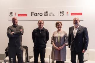 Momento de la presentación de ARCOmadrid 2020 con los comisarios y directores. Cortesía de Ifema