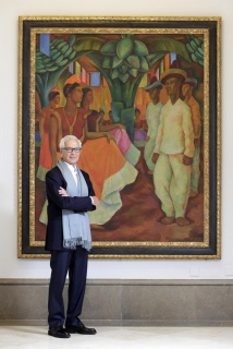 Eduardo F. Costantini, cuando fue distinguido por la Fundación Arco por su labor en la difusión del arte latinoamericano. Cortesía del MALBA