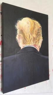Carlos González Castrillo. De la serie 'An Ideal for Living' (en proceso), Acrílico sobre lienzo 50 x 70 cm. Publicada en su cuenta de Facebook. Cortesía del artista