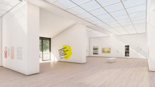 """Vista de """"Promenade. Un paseo virtual por el reino del dibujo"""", primera exposición de Drawing Room On Show"""