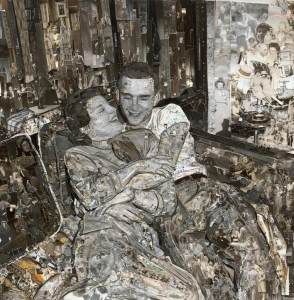 Vik Muniz Album: Couple, 2014 Galeria Nara Roesler   Los quince artistas latinoamericanos con más fuerza en 2014