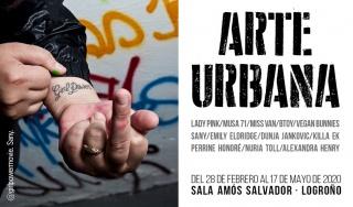"""Cartel de la exposición """"Arte Urbana"""" en la Sala Amos Salvador, de Logroño."""