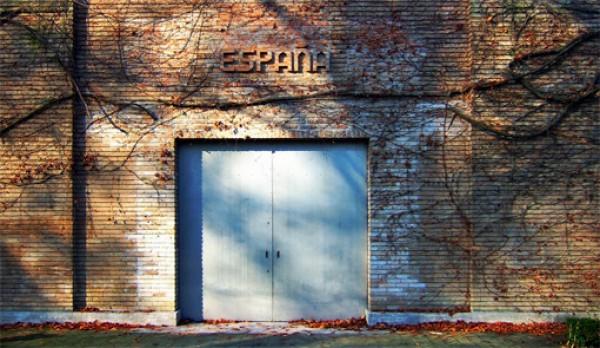 Puerta de entrada al Pabellón de España | El desembarco iberoamericano en la 56ª Bienal de Venecia