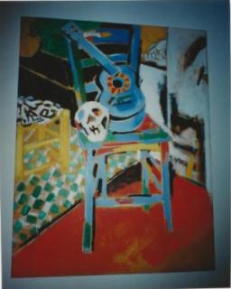 """Cuadro de Manolo Quejido, titulado """"La silla"""",1981. Cortesía de la Fundación Germán López y Marián Sanz (Cretas, Teruel)"""
