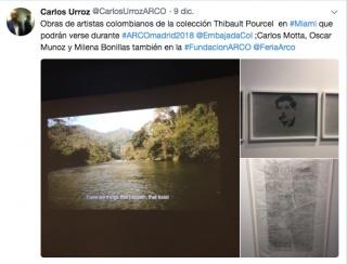 Pantallazo del mensaje en Twitter de Carlos Urroz