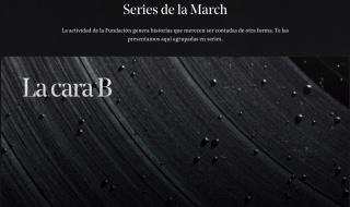 """Pantallazo de la sección """"Series"""" del Canal March"""