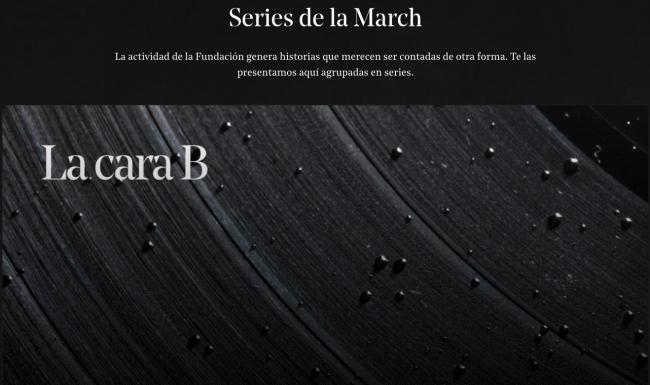 """Pantallazo de la sección """"Series"""" del Canal March   A vista de pájaro: otoño digital en Fundación Juan March, adquisiciones de obras en Barcelona, cambio de fechas en Estampa y más"""
