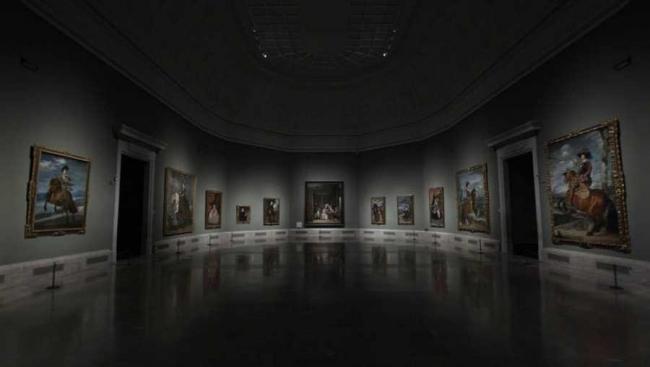 Sala de las Meninas del Museo del Prado. Cortesía de RTVE | A vista de pájaro: el coronavirus paraliza el mundo del arte, el informe Tefaf y el adiós de Nelson Leiner