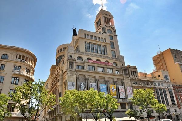 Vista del edificio del Círculo de Bellas Artes de Madrid. Cortesía de Drawing Room | Drawing Room se muda al Círculo de Bellas Artes de Madrid para acoger más galerías y artistas