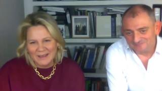 Pantallazo de la entrevista con Raquel Ponce y José Robles