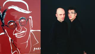 Paco de Blas (izq.) y Luis Valverde y José Martínez (dcha.) - Foto de éstos: Miguel Angel Gaueca