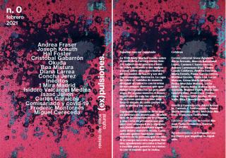 Portada y créditos de la revista (ex)pulsiones - Cortesía de sus autores