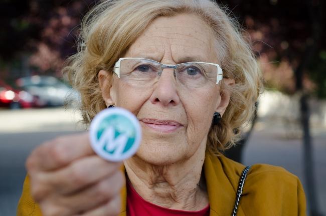 Manuela Carmena, Alcaldesa de Madrid. Foto extraída de su perfil en Wikipedia | El Ayuntamiento de Madrid falla los concursos públicos de dirección de seis grandes centros culturales municipales