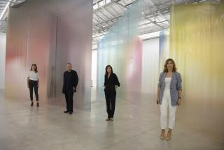 De izda. a dcha.: Inma Femenía, Vicent Todolí, Sandra Guimaraes y Susana Lloret. Cortesía de la Fundació Per Amor a l'Art