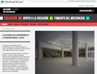 """Pantallazo de la microsite de la Colección """"La Caixa"""""""