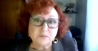 Pantallazo de la entrevista a Consuelo Vallina, Presidenta de la Unión de Artistas Contemporáneos de España (UNIÓN A.C.).