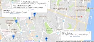 Vista de Ulma Lulik en Alvalade, junto a Maisterravalbuena, 111 y Múrias Centeno. Imagen de la app ArtCity by ARTEINFORMADO