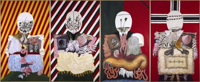 'Los cuatro dictadores' Eduardo Arroyo, 1963. Cortesía del Museo Reina Sofía | Muere Eduardo Arroyo, el artista más contestatario de la nueva figuración