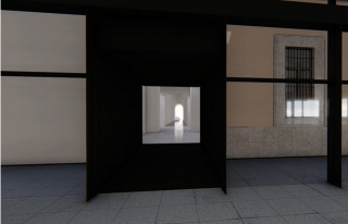 Recreación del acceso a las futuras salas desde el Edificio Nouvel. Cortesía del Museo Reina Sofía