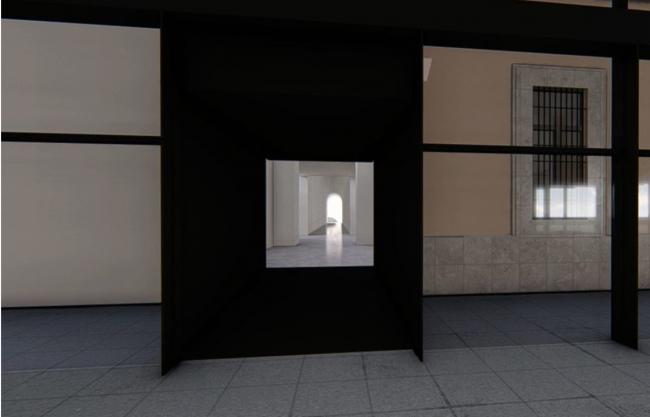 Recreación del acceso a las futuras salas desde el Edificio Nouvel. Cortesía del Museo Reina Sofía | A vista de pájaro: novedades en Reina Sofía, Prado, Musac, ARCO, ArtsLibris, PHotoEspaña, documenta, Videobrasil y más
