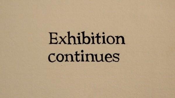 Ignasi Aballí Imagen texto (Exhibition continues), 2012. Colección del artista | Un otoño en el Reina Sofía con ocho individuales para recuperar, recordar y estrenar obras