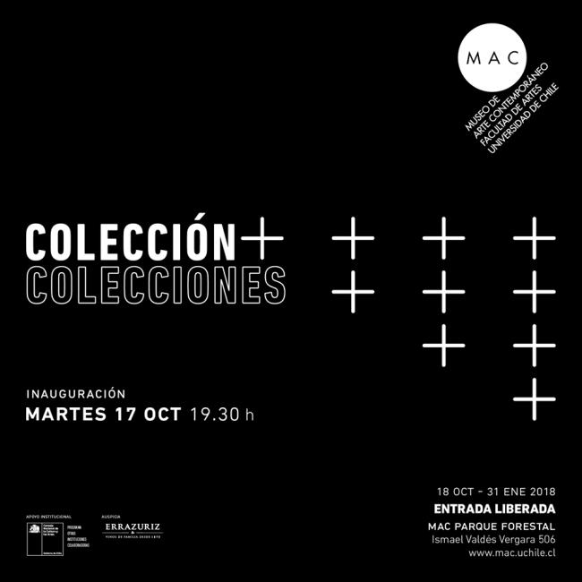 Cartel de la exposición en el MAC. Cortesía del museo   #loquehayquever en Chile: el MAC homenajea al coleccionismo privado