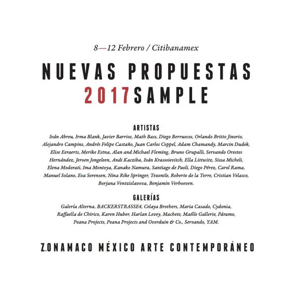 Cortesía de Zsona Mano | Mayoría de artistas y galerías iberoamericanas en la nueva SAMPLE de Zsona Maco