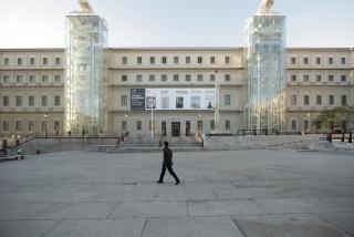 Vista de la fachada principal del Edificio Sabatini. Cortesía del Museo Nacional Centro de Arte Reina Sofía