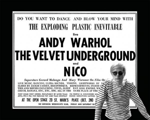 Cartel de Silver Songs. La música de Andy Warhol. Cortesía de LOOP Barcelona | Los pioneros del videoarte a revisión en el festival LOOP Barcelona 2017