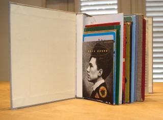 Yornel Martínez Sin título 2014 Libro conformado con portadas de otros libros 27 x 30 x 12 cm. Cortesía de El Apartamento