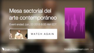 Presentación pública de la Mesa Sectorial de Arte Contemporáneo, Museo Reina Sofía, 23 de junio de 2015.