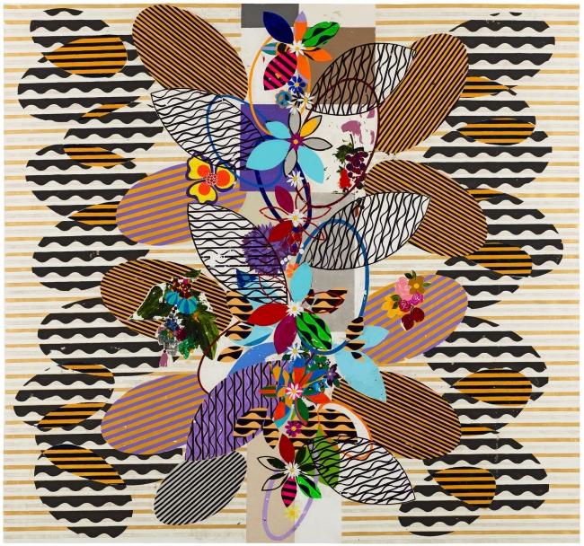 Beatriz Milhazes, Banho de rio, 2017, acrylic on canvas, 280 cm x 300 cm © Tate, London, 2019 © Beatriz Milhazes. Cortesía de Pace | Beatriz Milhazes ficha por la neoyorquina Pace