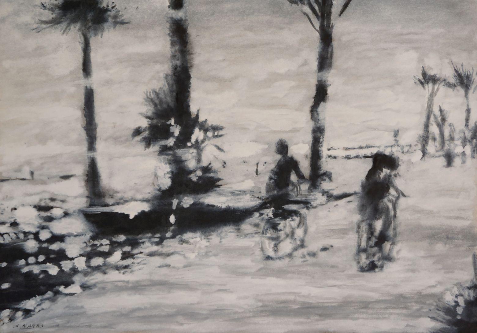 Pareja en bicicleta (2017) - Sebastián Navas