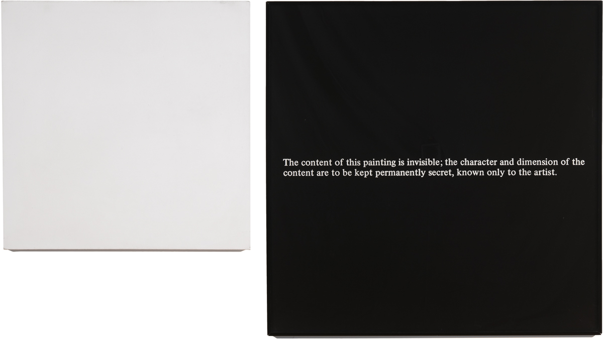 Secret Painting (Ghost) (1968) - Art & Language