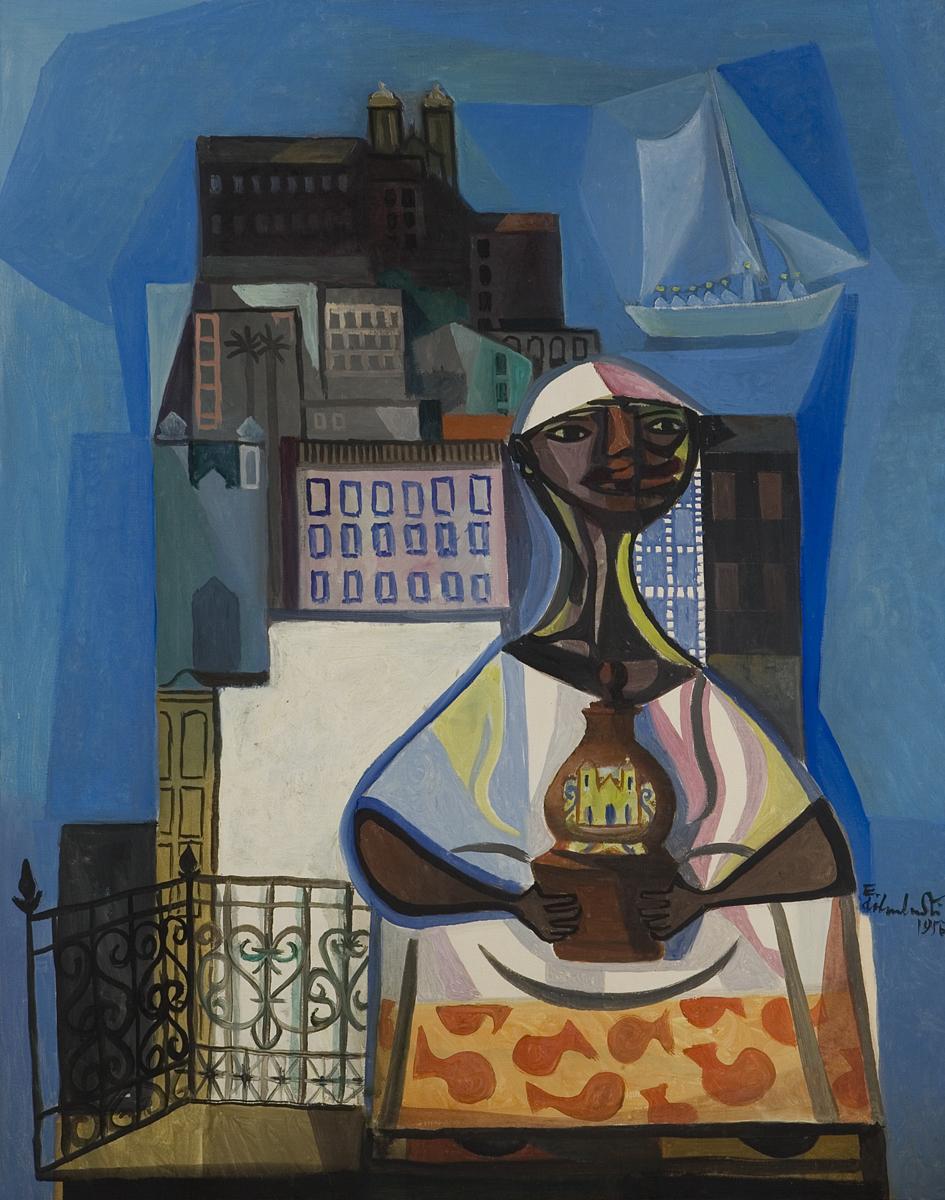 Vendedora de Bahia (1956) - Emiliano Di Cavalcanti