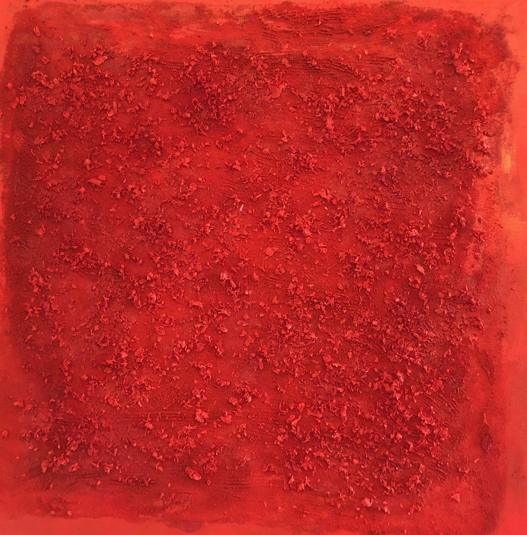 Cosmogonía textura rojo (2017) - Isabel Valdecasas - Isabelita