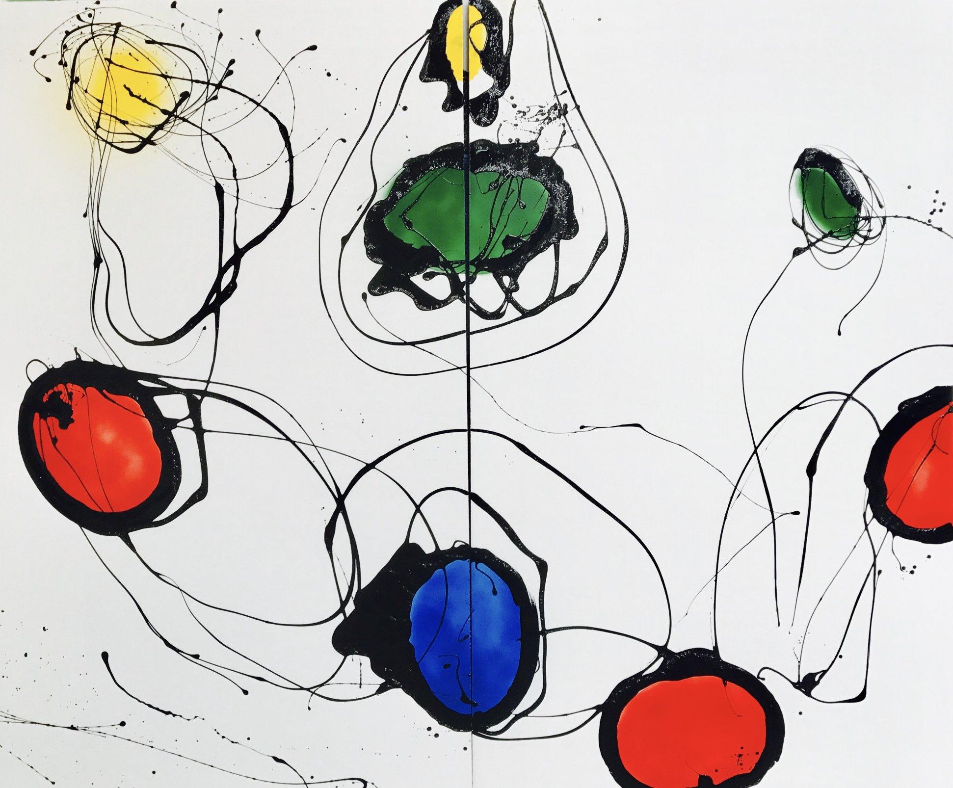 Díptico serie universos color (2018) - Cristina Iturrioz