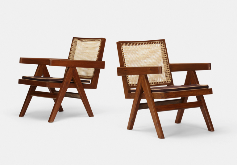 Jeanneret Easy armchairs from Chandigarh (1955) - Pierre Jeanneret
