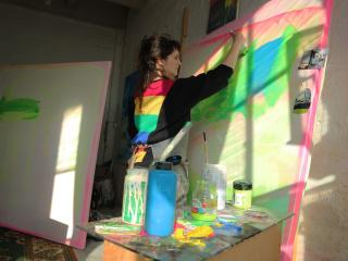 Paula Fraile's studio