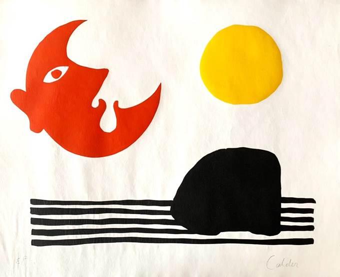 SUN, MOON AND MOUNTAIN (1974) - Alexander Calder
