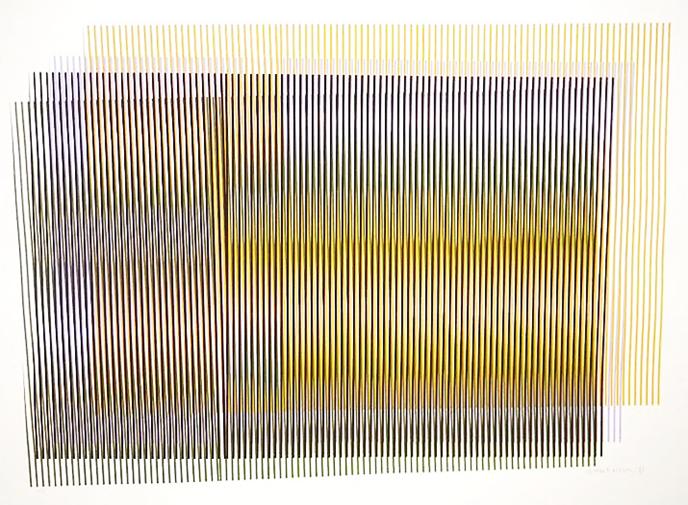 UNTITLED (CHROMATIC INDUCTION SERIES) (1981) - Carlos Cruz-Diez