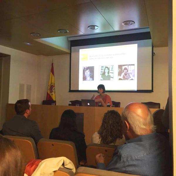Natalia Alonso durante Arte Online Madrid