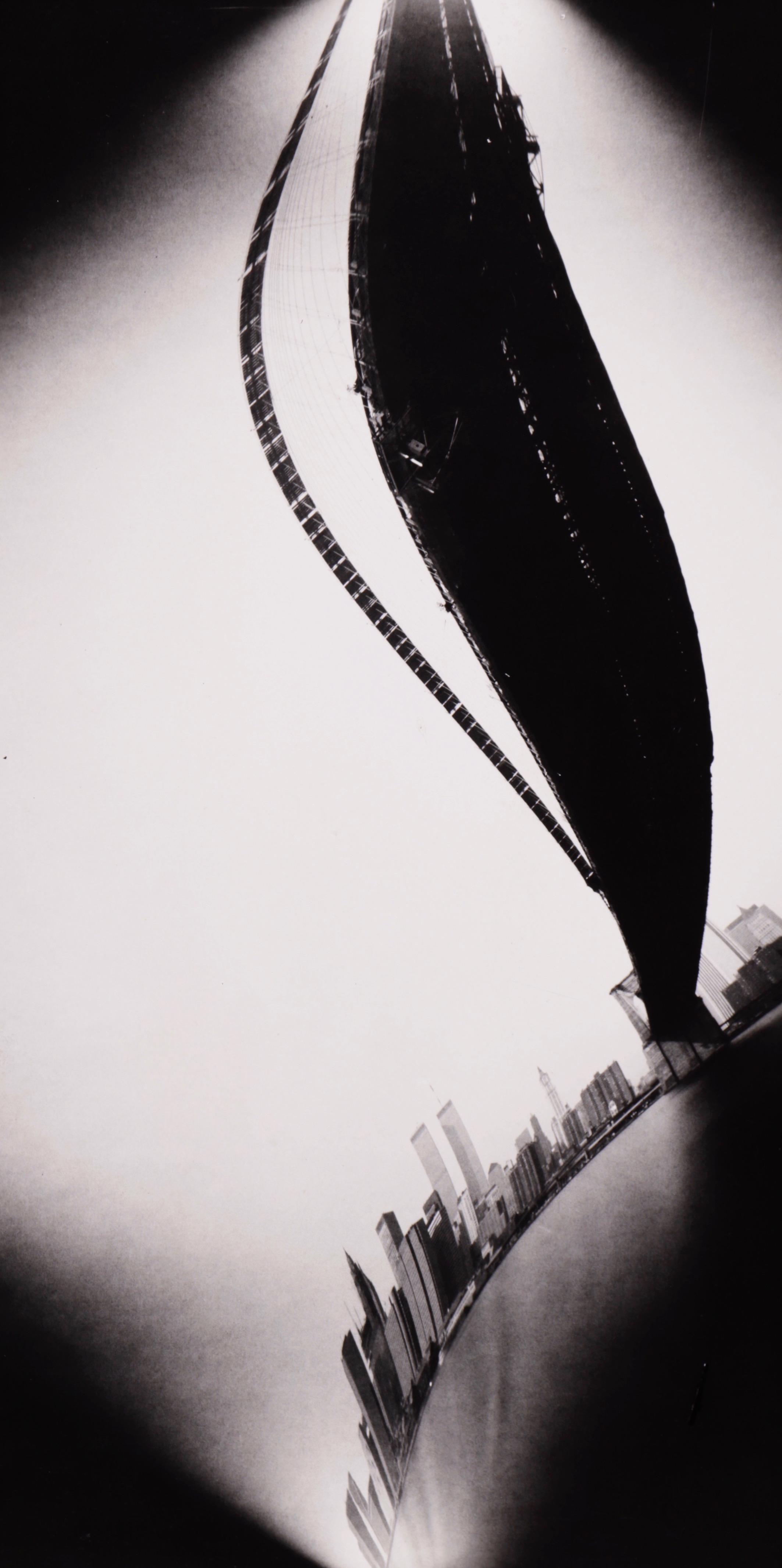 Brooklyn bridge with W.T.C.1-N.Y. (1987) - Ilan Wolff